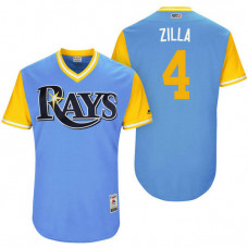 Tampa Bay Rays Blake Snell #4 Zilla Light Blue Nickname 2017 Little League Players Weekend Jersey