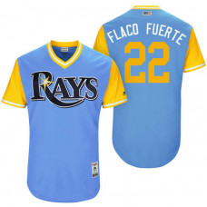 Tampa Bay Rays Chris Archer #22 Flaco Fuerte Light Blue Nickname 2017 Little League Players Weekend Jersey