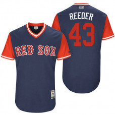 Boston Red Sox Addison Reed #43 Reeder Navy Nickname 2017 Little League Players Weekend Jersey