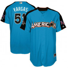 2017 All-Star American League Kansas City Royals Jason Vargas #51 Blue Home Run Derby 2017 All-Star American League Jersey