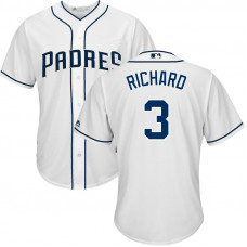 San Diego Padres #3 Clayton Richard Home White Cool Base Jersey