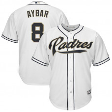 Erick Aybar #8 San Diego Padres Replica Home White Cool Base Jersey