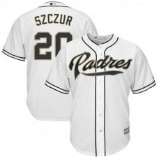Matt Szczur #20 San Diego Padres Replica Home White Cool Base Jersey