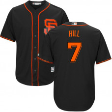 San Francisco Giants #7 Aaron Hill 2017 Alternate Black Cool Base Jersey