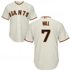 San Francisco Giants #7 Aaron Hill Home Cream Cool Base Jersey