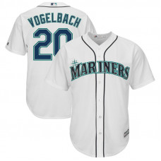 Dan Vogelbach #20 Seattle Mariners Replica Home White Cool Base Jersey