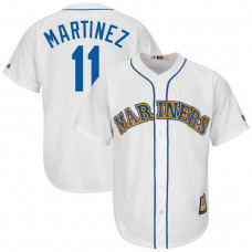 Edgar Martinez #11 Seattle Mariners Replica Cooperstown White Cool Base Jersey