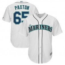James Paxton #65 Seattle Mariners Replica Home White Cool Base Jersey