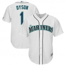 Jarrod Dyson #1 Seattle Mariners Replica Home White Cool Base Jersey