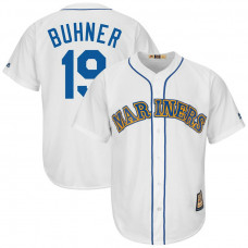 Jay Buhner #19 Seattle Mariners Replica Cooperstown White Cool Base Jersey
