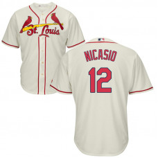St. Louis Cardinals #12 Juan Nicasio Alternate Cream Cool Base Jersey