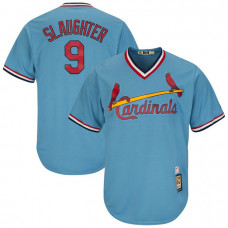 Enos Slaughter #9 St. Louis Cardinals Replica Cooperstown Light Blue Cool Base Jersey
