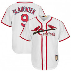 Enos Slaughter #9 St. Louis Cardinals Replica Cooperstown Collection White Cool Base Jersey