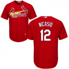 St. Louis Cardinals #12 Juan Nicasio Fashion Red Cool Base Jersey