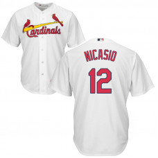 St. Louis Cardinals #12 Juan Nicasio Home White Cool Base Jersey