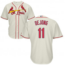 St. Louis Cardinals #11 Paul DeJong Alternate Cream Cool Base Jersey