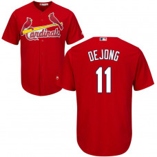 St. Louis Cardinals #11 Paul DeJong Alternate Red Cool Base Jersey