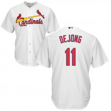 St. Louis Cardinals #11 Paul DeJong Home White Cool Base Jersey