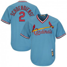 Red Schoendienst #2 St. Louis Cardinals Replica Cooperstown Light Blue Cool Base Jersey