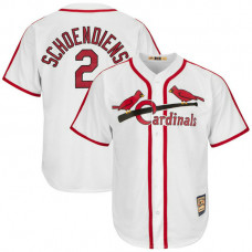 Red Schoendienst #2 St. Louis Cardinals Replica Cooperstown White Cool Base Jersey