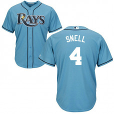 Tampa Bay Rays #4 Blake Snell Alternate Light Blue Cool Base Jersey