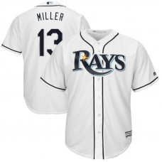Tampa Bay Rays #13 Brad Miller Home White Cool Base Jersey