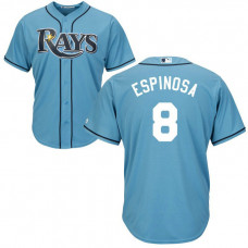 Danny Espinosa #8 Tampa Bay Rays Alternate Light Blue Cool Base Jersey