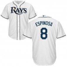 Danny Espinosa #8 Tampa Bay Rays Home White Cool Base Jersey