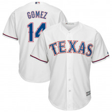 Carlos Gomez #14 Texas Rangers Replica Home White Cool Base Jersey