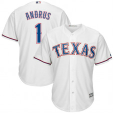 Texas Rangers #1 Elvis Andrus Home White Cool Base Jersey