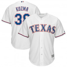 Pete Kozma #38 Texas Rangers Replica Home White Cool Base Jersey