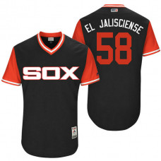 Chicago White Sox Miguel Gonzalez #58 El Jalisciense Black Nickname 2017 Little League Players Weekend Jersey