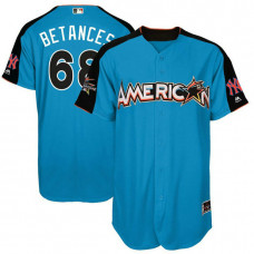 2017 All-Star American League New York Yankees Dellin Betances #68 Blue Home Run Derby 2017 All-Star American League Jersey