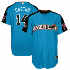 2017 All-Star American League New York Yankees Starlin Castro #14 Blue Home Run Derby 2017 All-Star American League Jersey