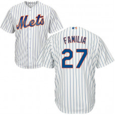 Mens New York Mets Jeurys Familia #27 Home White Cool Base Jersey