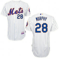 New York Mets #28 Daniel Murphy White Home Cool Base Jersey