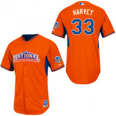 Women - New York Mets #33 Matt HarveyAuthentic Orange National League 2013 All Star BPJersey