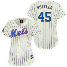Women - New York Mets #45 Zack WheelerAuthentic CreamJersey
