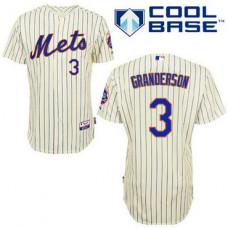 New York Mets #3 Curtis Granderson Authentic Cream Home Cool Base Jersey