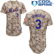 New York Mets #3 Curtis Granderson Authentic Camo Alternate Cool Base Jersey