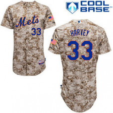 Women - New York Mets #33 Matt HarveyAuthentic Camo Alternate Cool Base Jersey