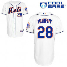 New York Mets #28 Daniel Murphy Authentic White Alternate Cool Base Jersey