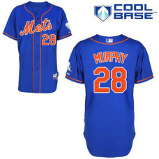 New York Mets #28 Daniel Murphy Authentic Royal Blue Alternate Home Cool Base Jersey