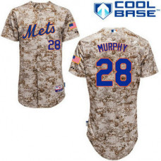 New York Mets #28 Daniel Murphy Authentic Camo Alternate Cool Base Jersey