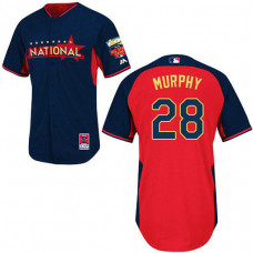 New York Mets #28 Daniel Murphy Authentic Navy/Red National League 2014 All Star BPJersey