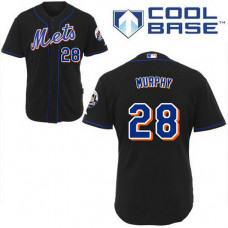 New York Mets #28 Daniel Murphy Authentic BlackCool Base Jersey
