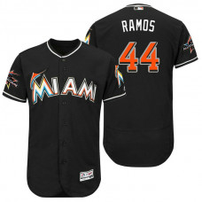 Miami Marlins A.J. Ramos #44 Black 2017 All-Star Game Patch Flex Base Jersey