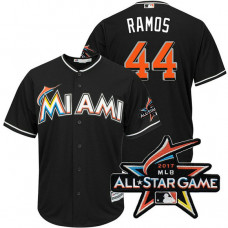 Miami Marlins A.J. Ramos #44 Black 2017 All-Star Game Patch Cool Base Jersey