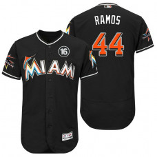 Miami Marlins A.J. Ramos #44 Black 2017 All-Star Jose Fernandez Patch Flex Base Jersey