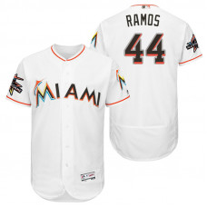 Miami Marlins A.J. Ramos #44 White 2017 All-Star Game Patch Flex Base Jersey